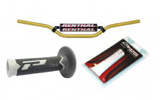 New Renthal 7/8 Bars 971 HandleBars Pro Grips Renthal Grip Glue Combo Gold MX